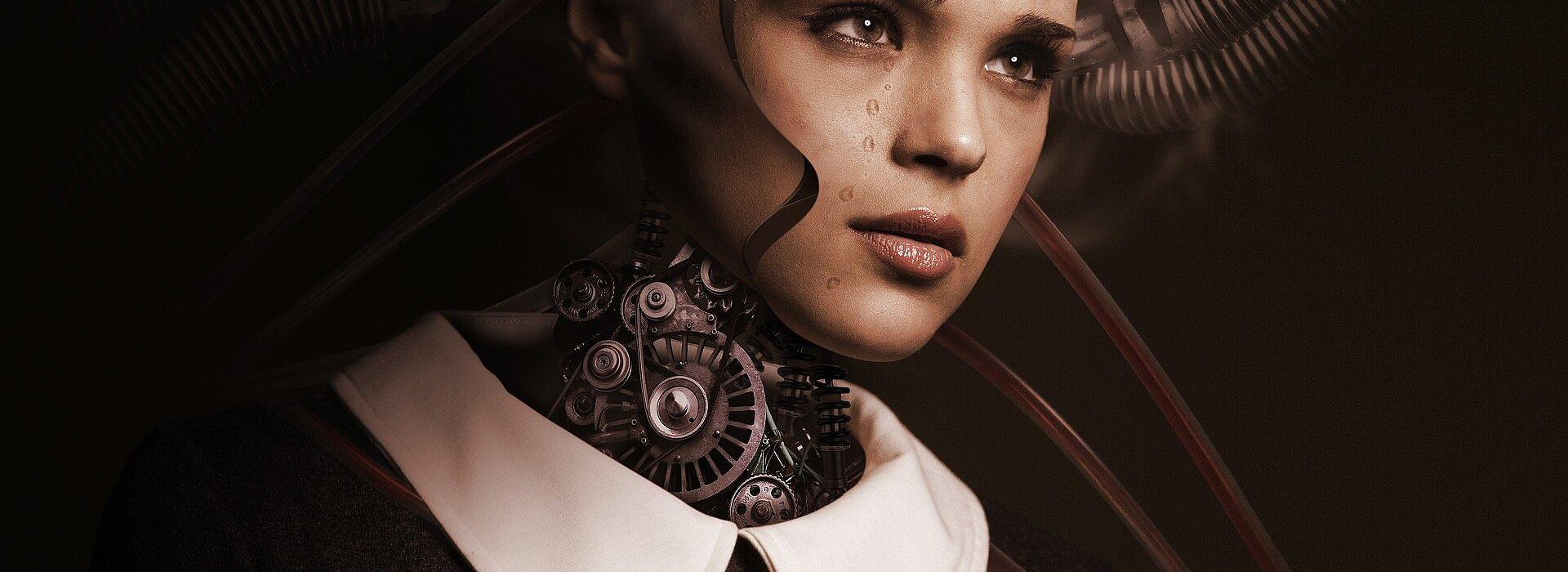 um robô extremamente parecido com um ser humano