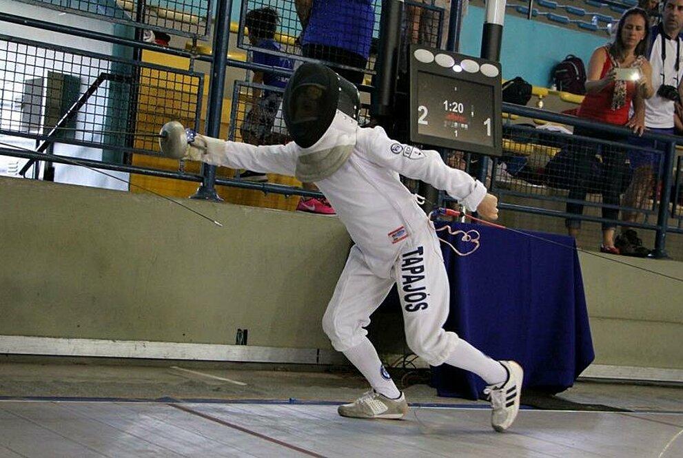 Manuela correndo em competição.
