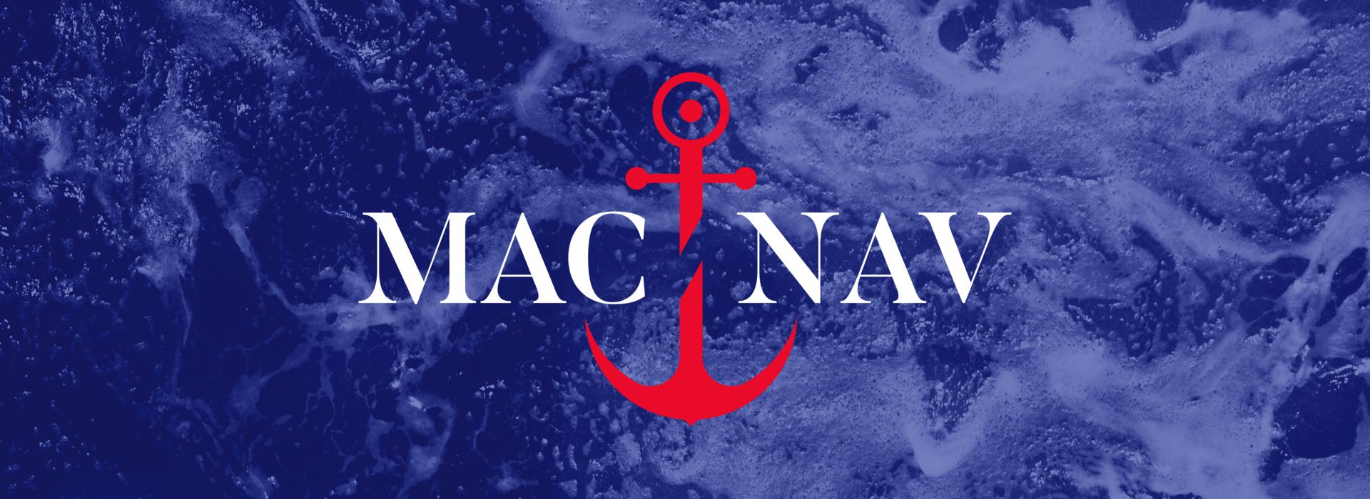 ícone do Mac-Nav com fundo azul