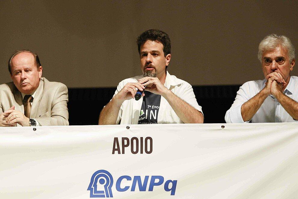 Benedito Guimarães Aguiar Neto, Cristiano de Matos e Marcos Pimenta.