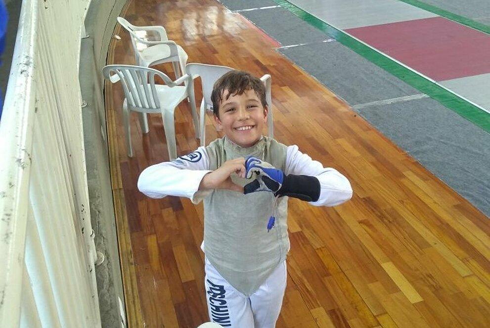 Luiz Henrique durante aula.