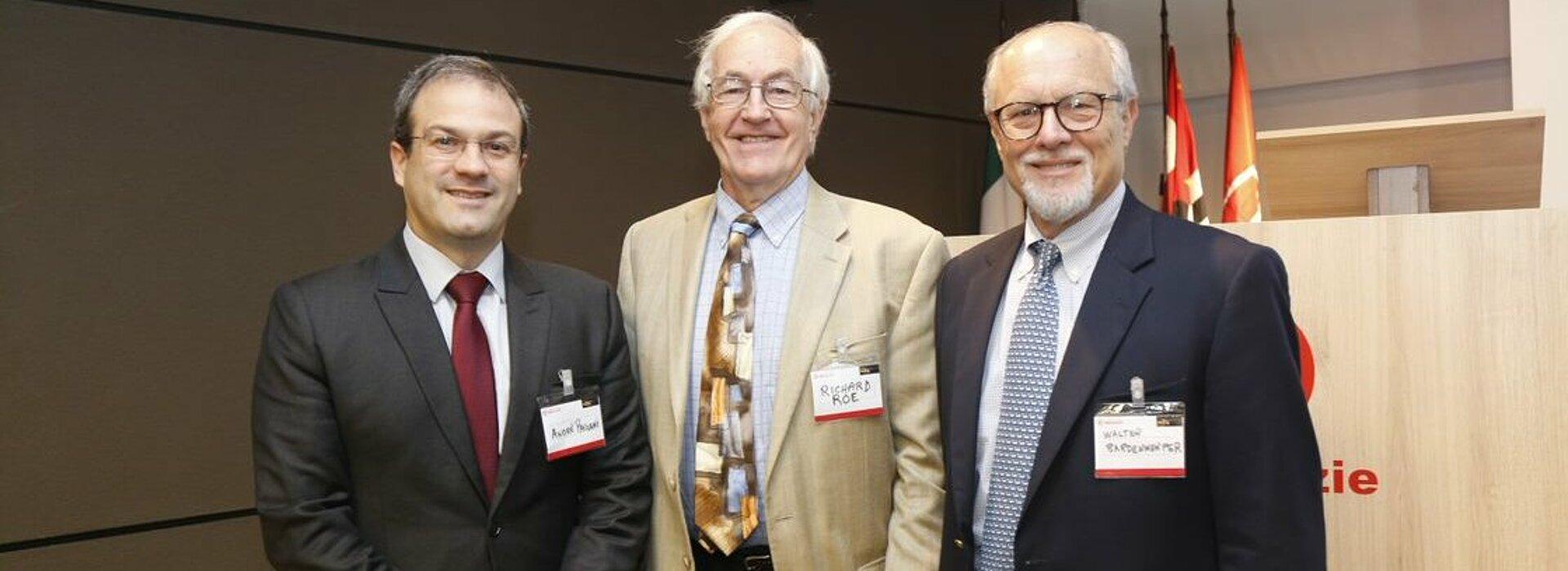 Da esquerda para a direita: André Pagani, Richard Roe e Walter Bardenwerper.