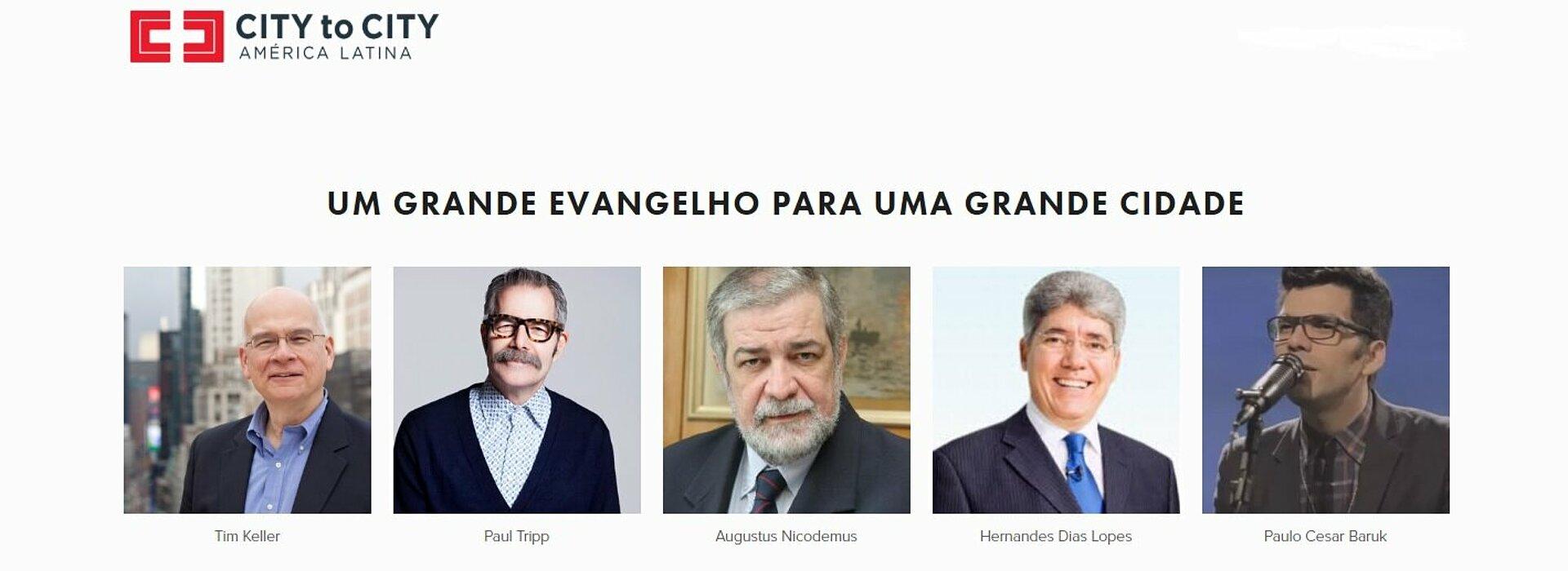 fundo branco com foto dos rostos dos palestrantes do evento