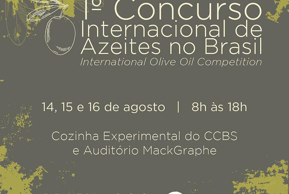 convite para concurso internacional de azeite