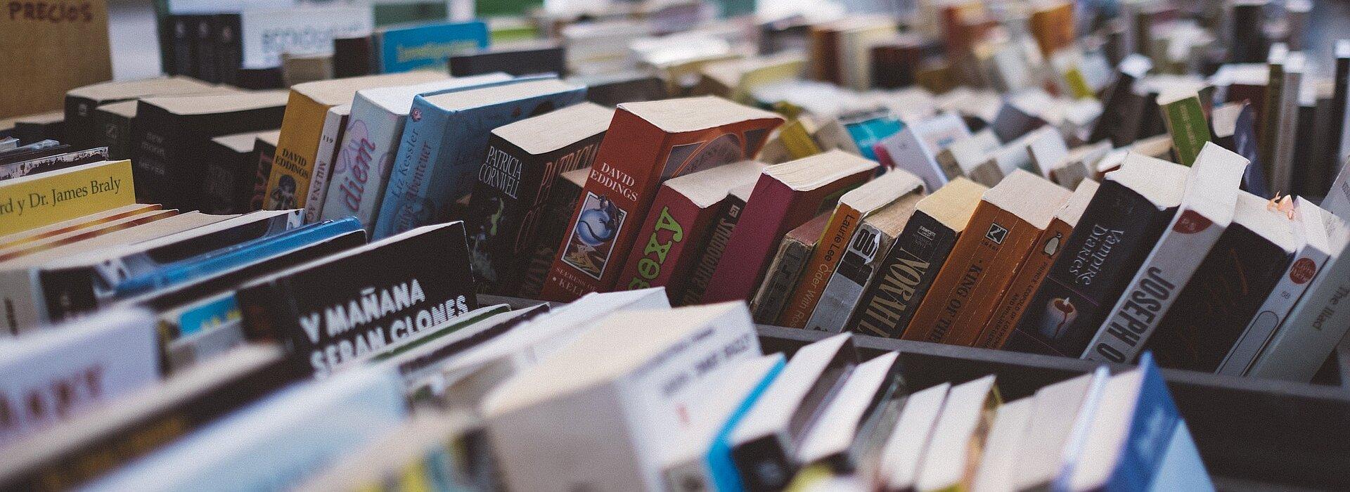 Livros organizados.
