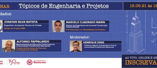 Banner com fotos dos palestrantes do Webinar