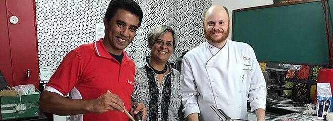 Valdir dos Santos, Marcia Nepomuceno e Arthur Sauer.