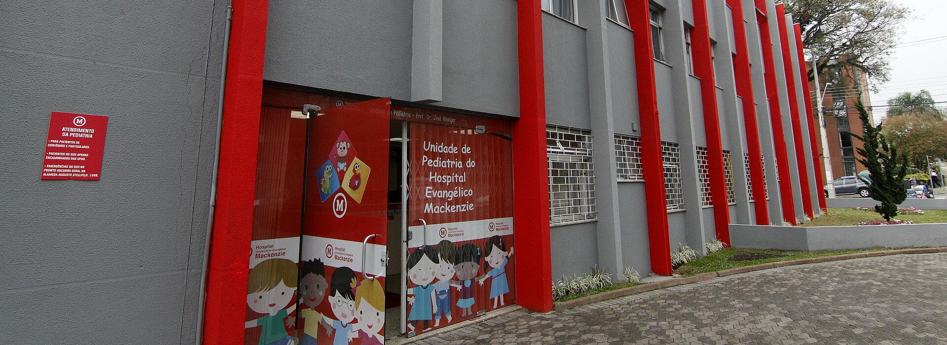 fachada da ala pediátrica do Hospital Mackenzie Curitiba