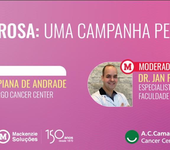 Banner do webinar Outubro Rosa: Uma campanha pela vida