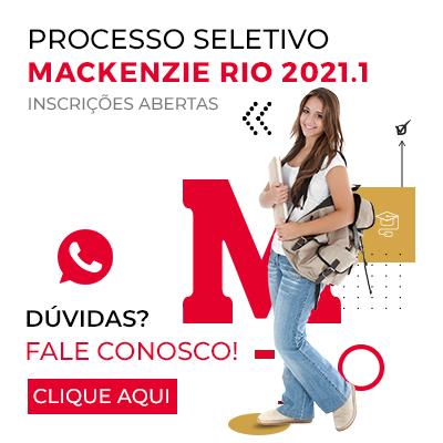 Inscrições abertas para o Processo Seletivo  Mackenzie Rio 2021.1